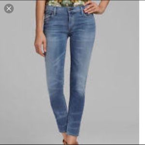 Citizens of Humanity light wash straight leg jeans